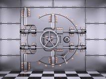 Vault safe bank door in banking room Stock Image