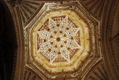 Vault  in tower of Burgos Cathedral. Vault in gothic tower of Burgos Cathedral in northern Spain Stock Images