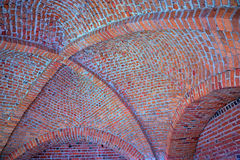 Vaulted brick ceiling Royalty Free Stock Photography
