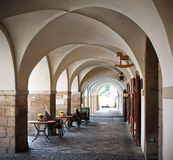 Vaulted ceiling. Corridor with the valuted ceiling Stock Photo