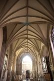 Vaulted ceiling of Crowland Abbey, Lincolnshire, UK - 27th April royalty free stock photos