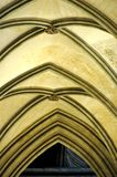 Vaulted ceiling in a gothic cathedral Royalty Free Stock Photos