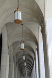 Vaulted ceiling hallway and colonnade Royalty Free Stock Photo