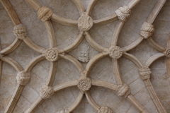 Vaulted ceiling of Jeronimos Monastery Royalty Free Stock Photos