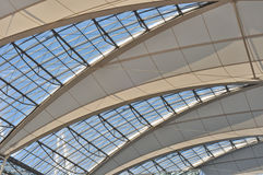 Vaulted ceiling at Munich Airport Stock Photography