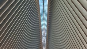 Vaulted ceiling in Oculus, New York City Royalty Free Stock Photo