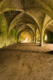 Vaulted ceilings in Fountains Abbey in North Yorks Stock Image