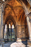 Vaulted cloister, Lincoln Cathedral, England Stock Photos
