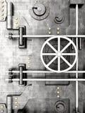 Vaulted door. 3D rendered Illustration. A bank vault door Stock Image