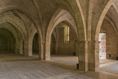 Vaulted ground floor of Episcopal Palace, Rieti Stock Photography