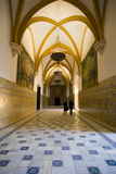 Vaulted hall in the Alcazars Royalty Free Stock Images