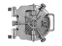 Vaulted metal bank door Stock Image