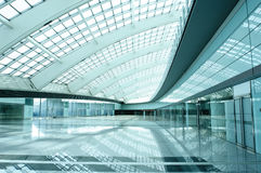 Vaulted modern hall Stock Photo