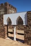 Vaulted Moorish Windows at the Castle of Silves. Vaulted Moorish Windows of the Palace of Balconies at the Castle of Silves, in the historic and beautiful city Stock Image