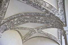 Vaulted painted ceiling. In museum of Oaxaca, Mexico Royalty Free Stock Image