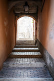 Vaulted passage in Villefranche-sur-Mer Royalty Free Stock Photography