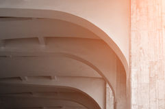 Vaulted stone ceiling under warm sunlight. Architecture minimalist background. Vaulted stone ceiling under warm sunlight. Architecture urban minimalist Stock Image