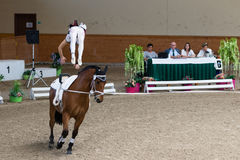 Vaulting competition final on June 18, 2017 in Pezinok, Slovakia Royalty Free Stock Images