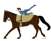 Vaulting van het paard stock illustratie