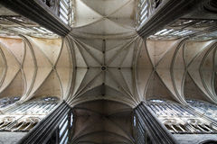 Vaults Crossing Amiens Cathedral Royalty Free Stock Photos