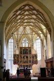 Vaults. Fortified medieval church Biertan, Transylvania. Royalty Free Stock Photos
