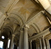 Vaults of a gallery in the Louvre Royalty Free Stock Image