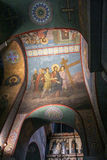 The vaults of St. Sophia Cathedral with biblical scenes. Stock Photos