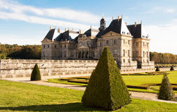 Vaux - le - Vicompte城堡 免版税图库摄影