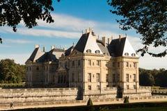 Vaux - le - Vicompte城堡 免版税库存照片