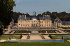 Vaux-le-Vicomte замок, около Парижа, Франция Стоковые Изображения