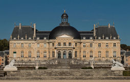 The Vaux-le-Vicomte castle, near Paris, France. Stock Image