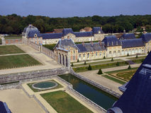 Vaux Le Vicomte, France, the castle near Paris. Vaux Le Vicomte, France,  summer, the castle near Paris Stock Image