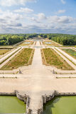 Vaux-le-Vicomte, France. The central avenue of the park, built by the landscape architect Andre Le Notre Royalty Free Stock Photography