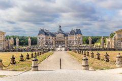 Vaux-le-Vicomte, France. The front entrance to the manor Stock Images