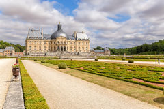Vaux-le-Vicomte, France. The main building of the manor and the park Stock Image
