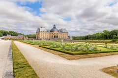 Vaux-le-Vicomte, France. The main building and the park Royalty Free Stock Photography