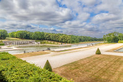 Vaux-le-Vicomte, France. The park with artificial ponds Royalty Free Stock Image