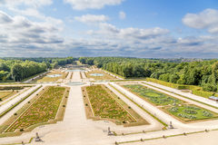 Vaux-le-Vicomte, France. The park, built by the landscape architect Andre Le Notre Royalty Free Stock Photography