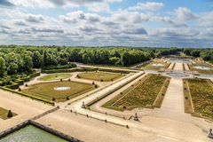 Vaux-le-Vicomte, France. View of the park with artificial ponds Stock Image