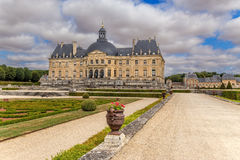 Vaux-le-Vicomte, France. View from the park of the central structure of the manor Royalty Free Stock Images