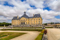 Vaux-le-Vicomte, France. View from the park of the central structure of the manor. Vaux-le-Vicomte - classic French manor-palace of of the XVII century, situated Royalty Free Stock Photos