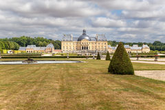 Vaux-le-Vicomte, France. View from the the park at the main building of the manor Royalty Free Stock Photography