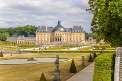 Vaux-le-Vicomte, France. View from the park to the main building Stock Image