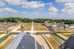 Vaux-le-Vicomte, Frankrijk Meningsmanor Stock Foto's