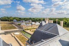Vaux-le-Vicomte Frankrike Beskåda en av delarna av godset Arkivfoton