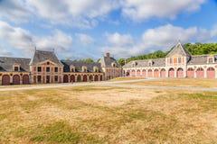Vaux-le-Vicomte Frankrike Byggnader av godset Arkivbilder