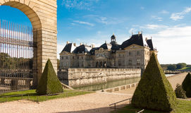Vaux leVicomte castle,法国 免版税库存图片