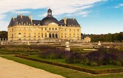 Vaux leVicomte castle,法国 库存照片
