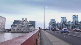 The Vauxhall Bridge and MI6 Building stock video