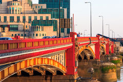 Vauxhall Bridge and Secret Intelligence Service Building Stock Image